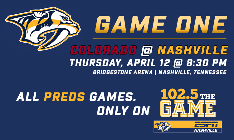 e6283897745 Mark your calendars! Preds Avs first round schedule announced!