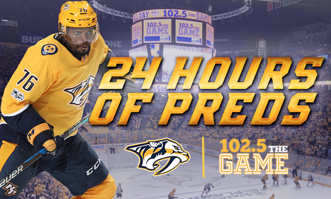 24 Hours of Preds on ESPN 102.5 The Game