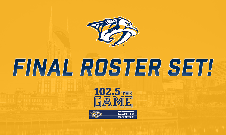 Preds announce opening night roster