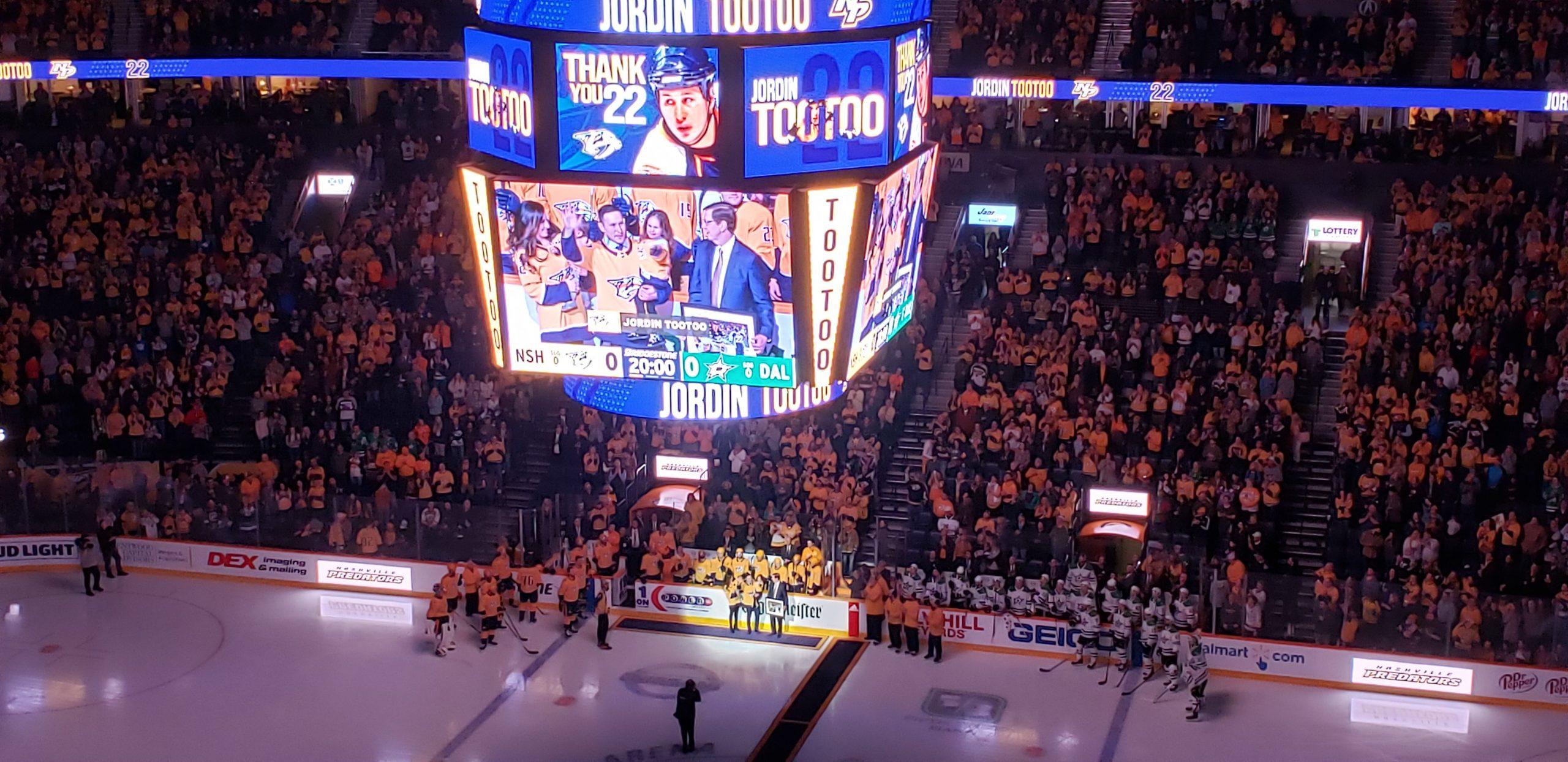 AUDIO  Nashville Predators honor an all-time fan favorite with Jordin Tootoo  Night 3d2e7c7c3