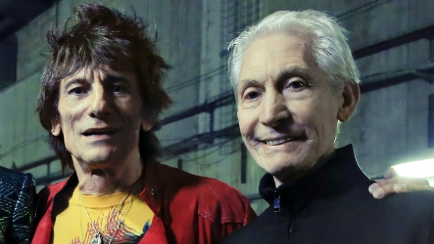 Rolling Stones Ronnie Wood and Charlie Watts taking part in