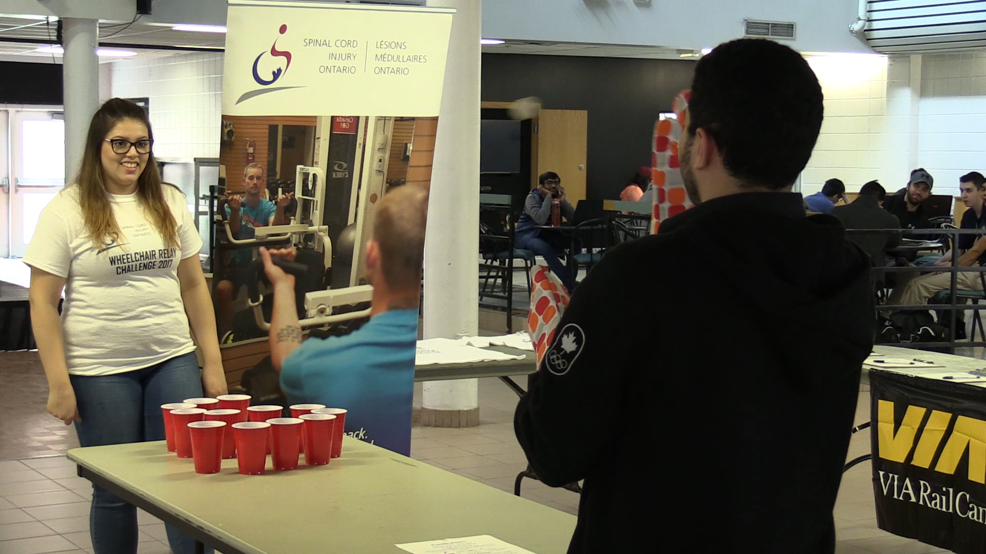 Cup pong raises awareness for spinal cord injuries