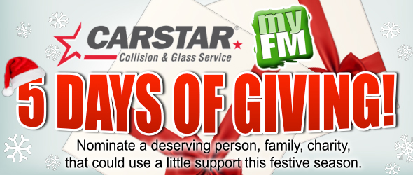 Feature: http://www.stthomastoday.ca/carstar-collision-glass-5-days-of-giving/