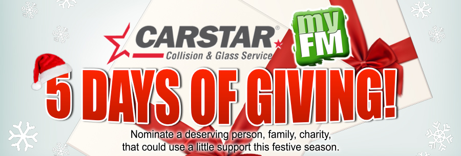 Feature: http://www.strathroytoday.ca/carstar-collision-glass-5-days-of-giving/