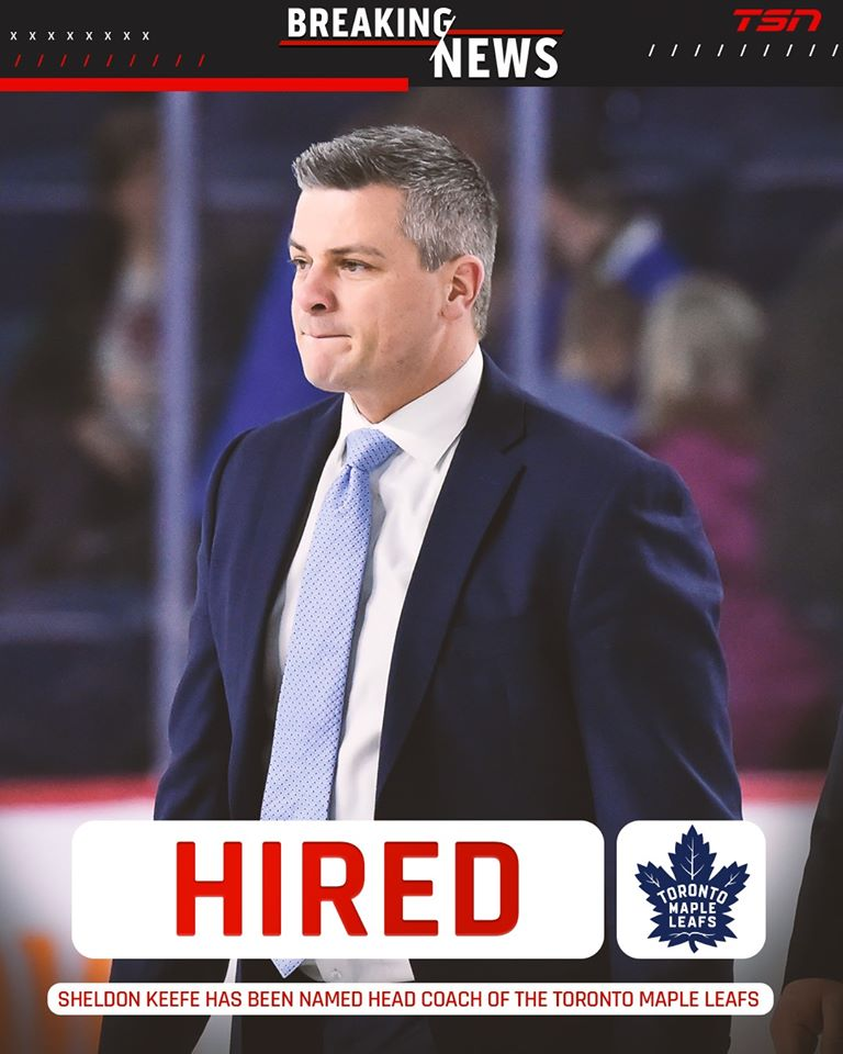 BREAKING: Sheldon Keefe hired as head coach for Toronto Maple Leafs