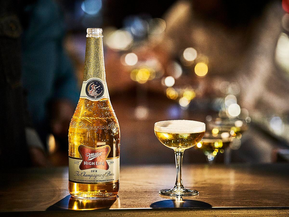 Miller High Life Selling 'Champagne of Beers' in Champagne Bottles for Holidays