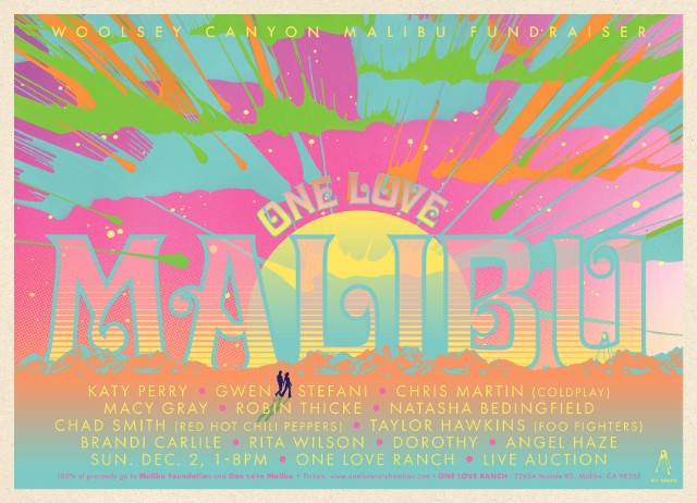 Katy Perry, Chris Martin, Gwen Stefani to Perform at Wildfire Benefit Show One Love Malibu