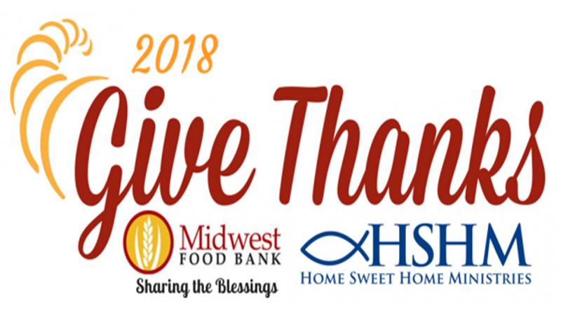 "Magic 99.5 Asks Your Help in ""Give Thanks"" Campaign with Home Sweet Home Ministries and Midwest Food Bank"