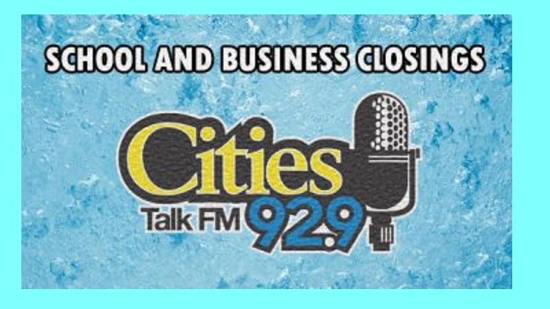 Closings and Cancellations 11/26/18