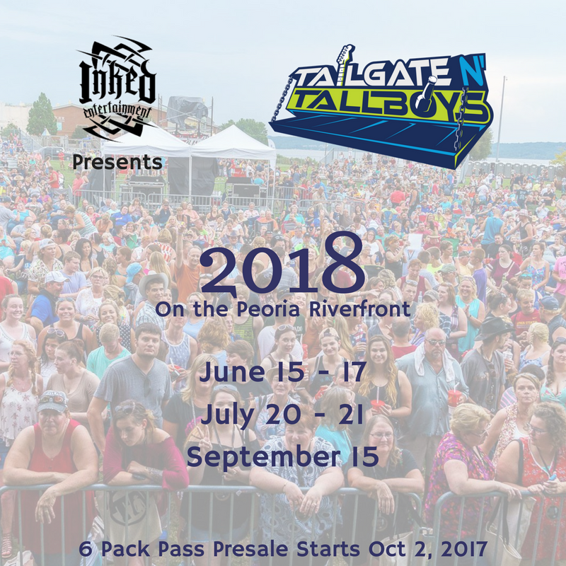 DATES ANNOUNCED FOR 2018 TAILGATE N' TALLBOYS MUSIC SERIES