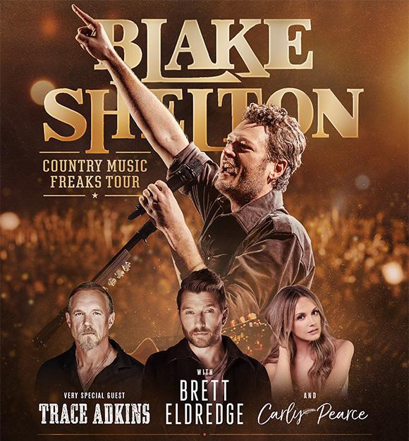 BLAKE SHELTON ANNOUNCES COUNTRY MUSIC FREAKS TOUR!