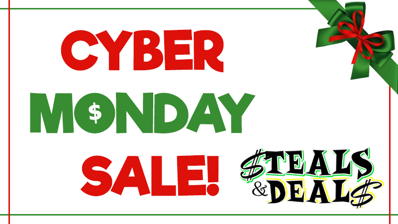 Cyber Monday HALF OFF With Steals and Deals!
