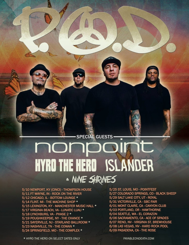 P O D  Announces Spring 2019 Tour Dates With Nonpoint | REAL