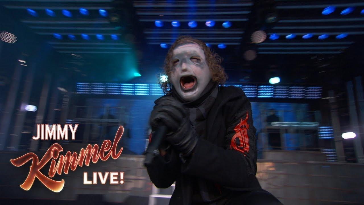 Slipknot Perform New Song 'Unsainted' For Jimmy Kimmel Live