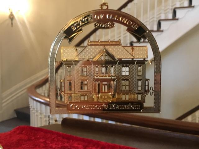 Official Springfield City Ornament Depicts Governor's Mansion