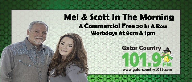 Feature: http://www.gatorcountry1019.com/mel-scott-in-the-morning/