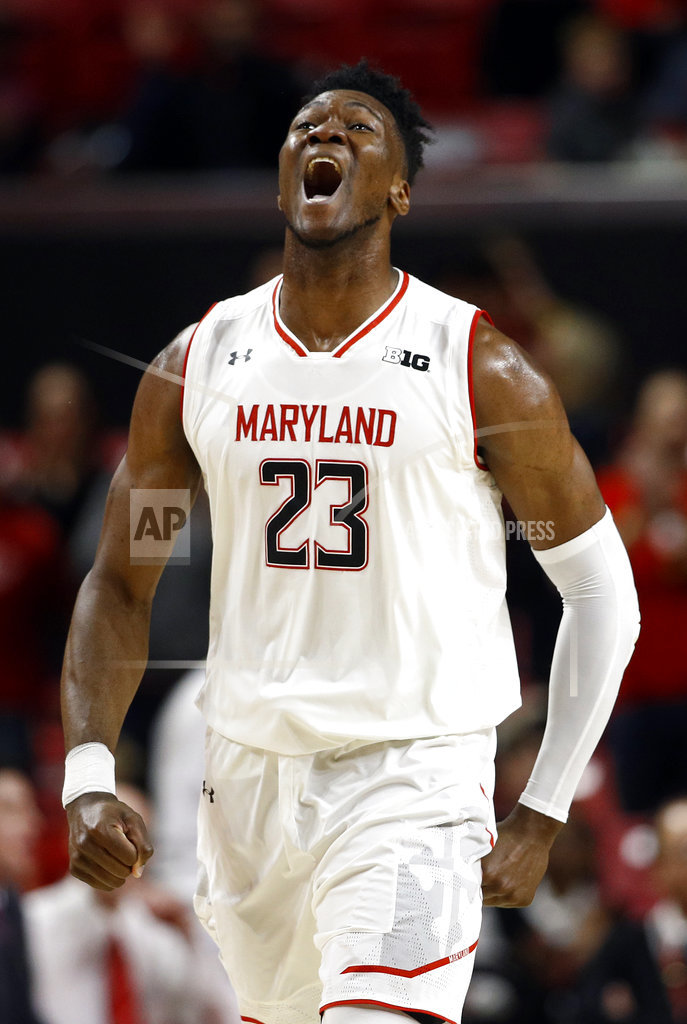 On late layup, Maryland beats No. 24 Nebraska 74-72