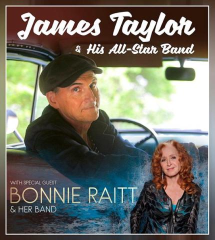 James Taylor with Bonnie Raitt Feb 20th