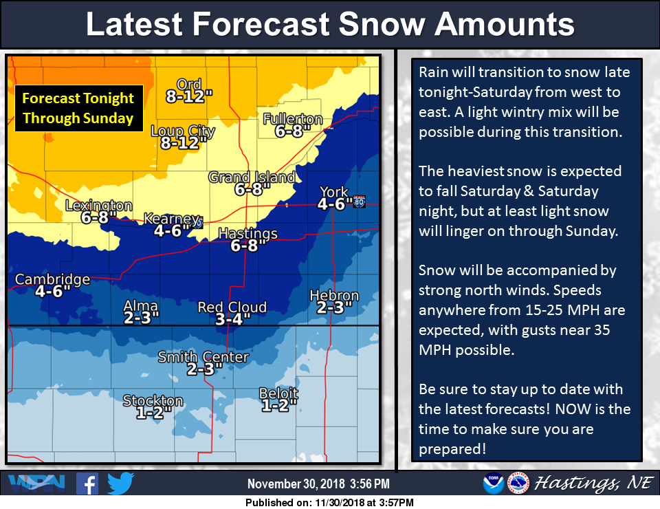 Wintry weather will impact the region tonight (FRIDAY) through Sunday.