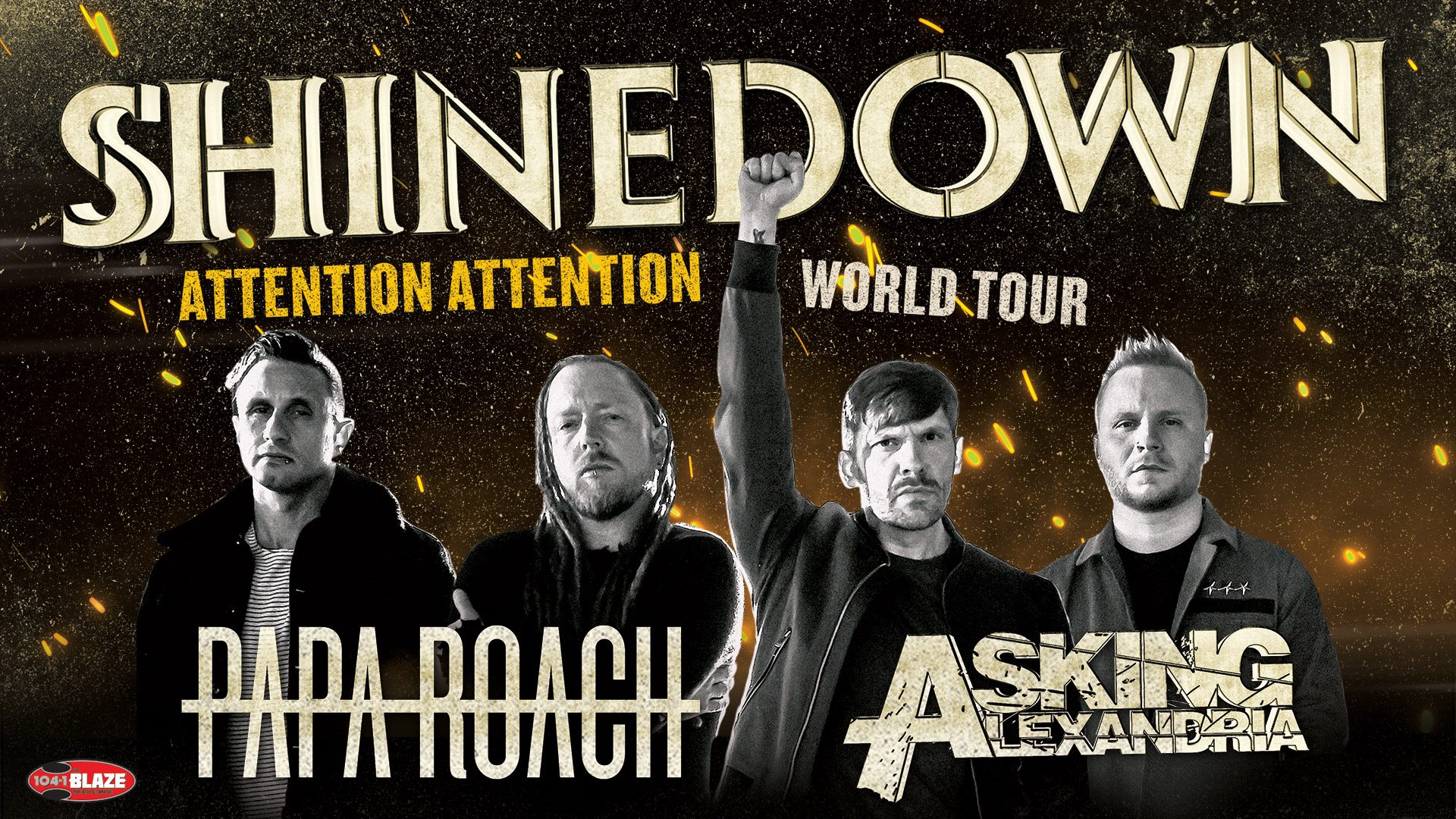 Shinedown with Papa Roach and Asking Alexandria, Mar. 15