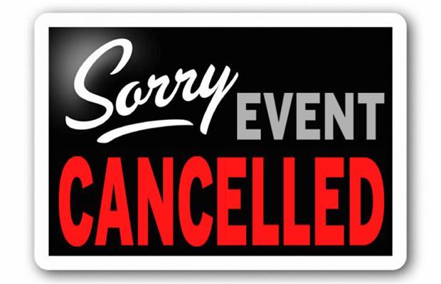Cancellations Saturday & Sunday 12/1/2018 & 12/2/2018