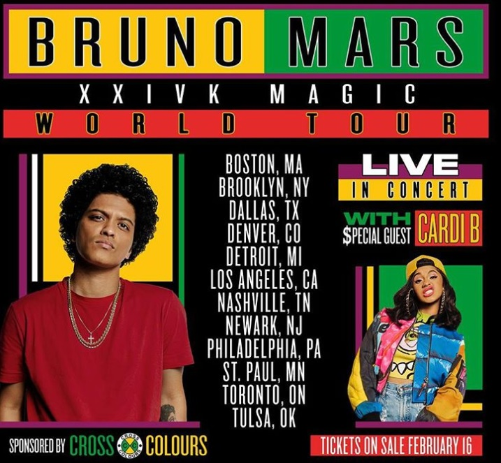 Bruno Mars And Cardi B Come To Toronto In September