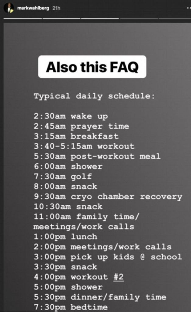 [Video] Mark Wahlberg Shares His Intense Daily Schedule, Including 2 Workouts And 2 Hours Allotted For Showers