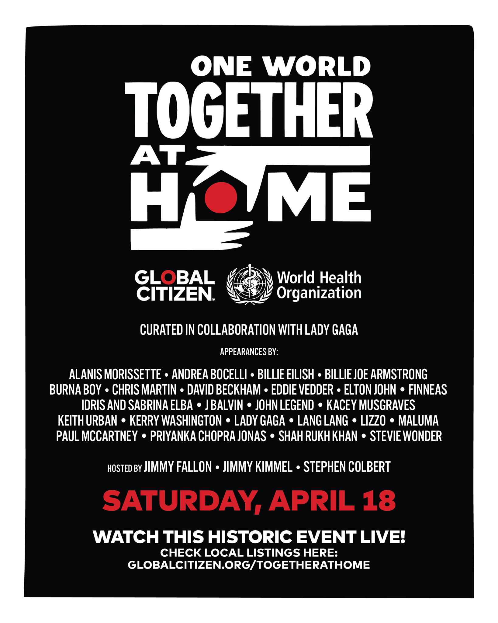 Lady Gaga Announces 'One World: Together At Home' Concert