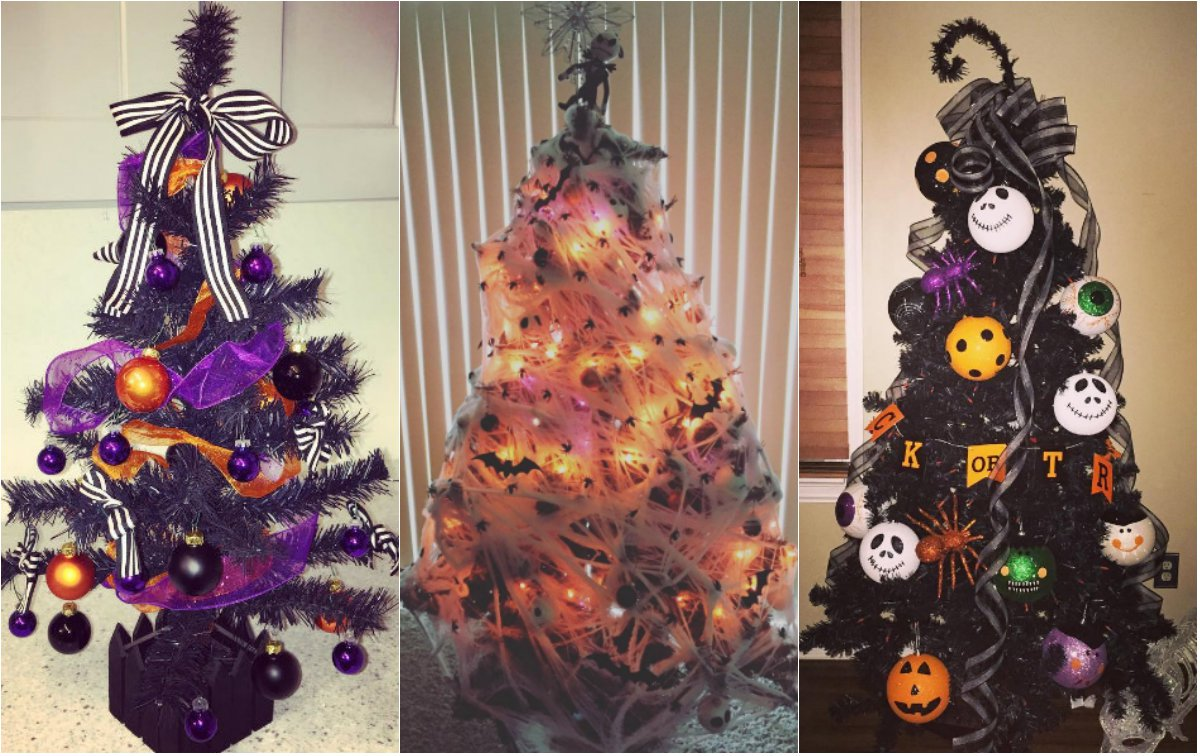 Halloween Christmas Trees Are A Thing Now And They Re Really Cool And Creepy Energy 106