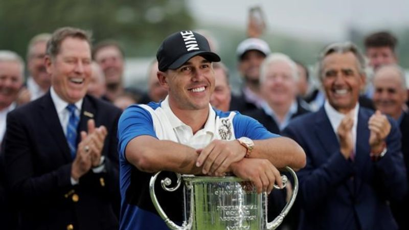 Brooks Koepka defends US PGA Championship, Dustin Johnson second