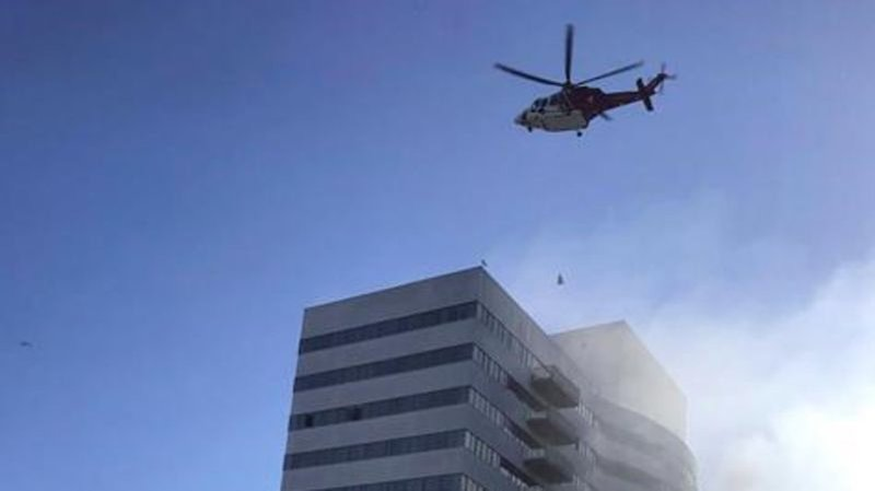 Desperate residents leap from 25-storey building in Los Angeles