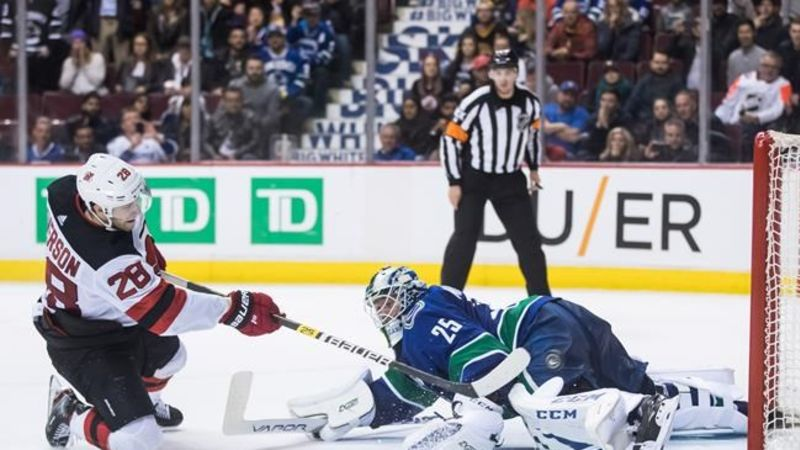 b9aff02fb New Jersey Devils fight back to beat Vancouver Canucks in shootout ...