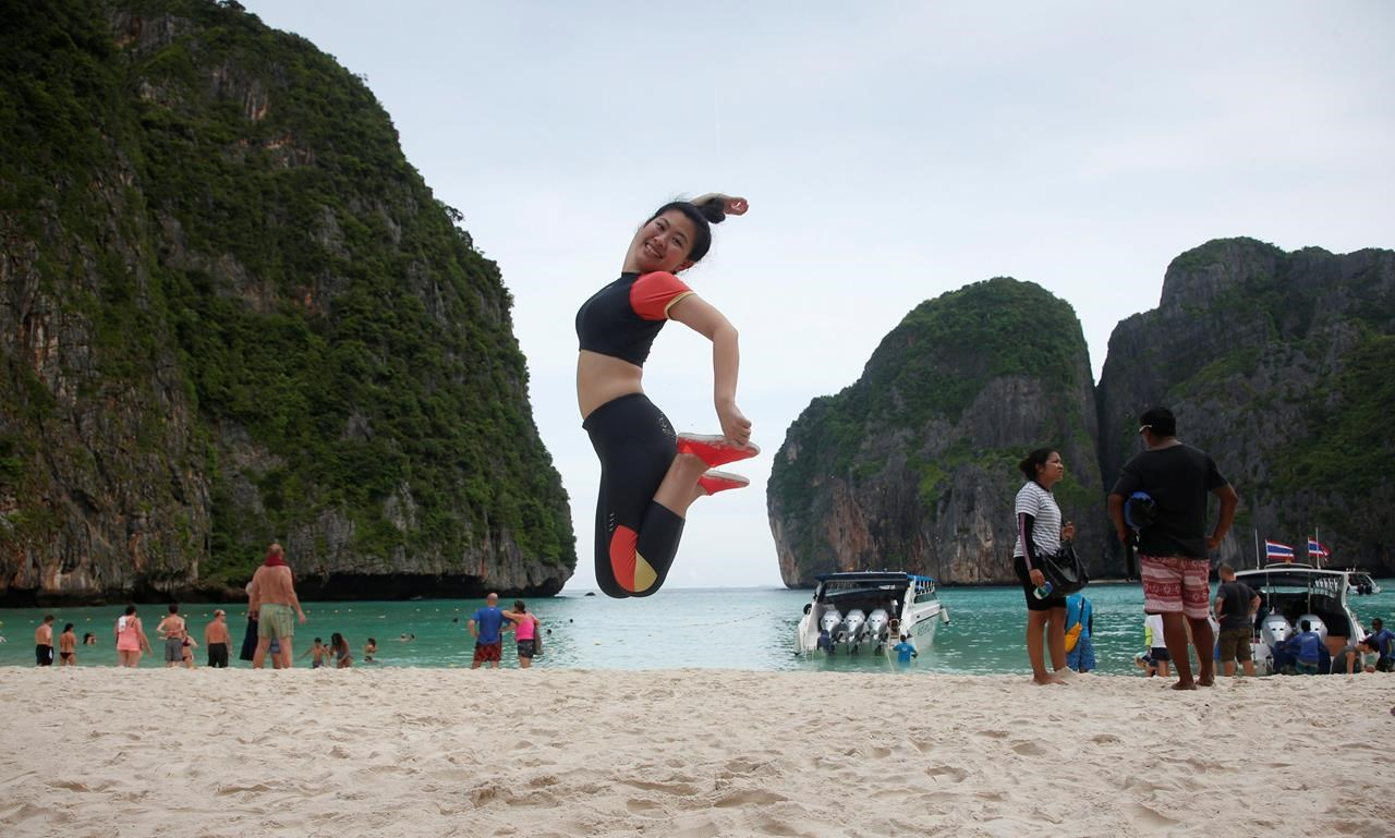 Ailing Thai beach made famous by Hollywood closes to tourism