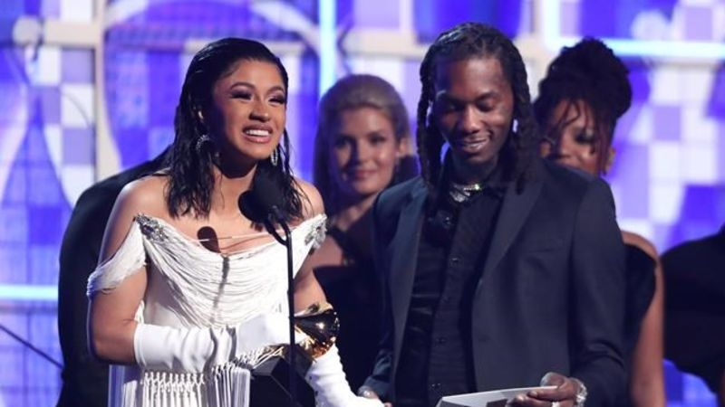Cardi B beats the boys to win rap album honours at Grammys