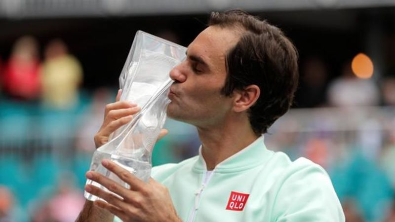 Miami Open: Federer defeats injured Isner to capture his record 101st title