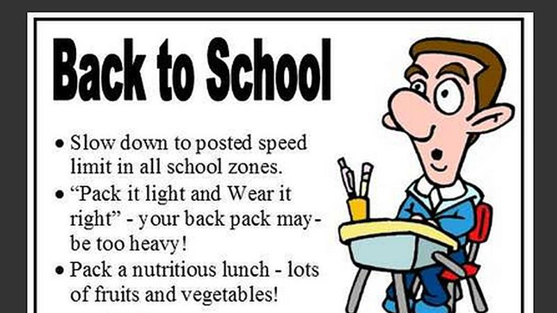 Back to School Safety Tips | meadowlakeNOW | Meadow Lake