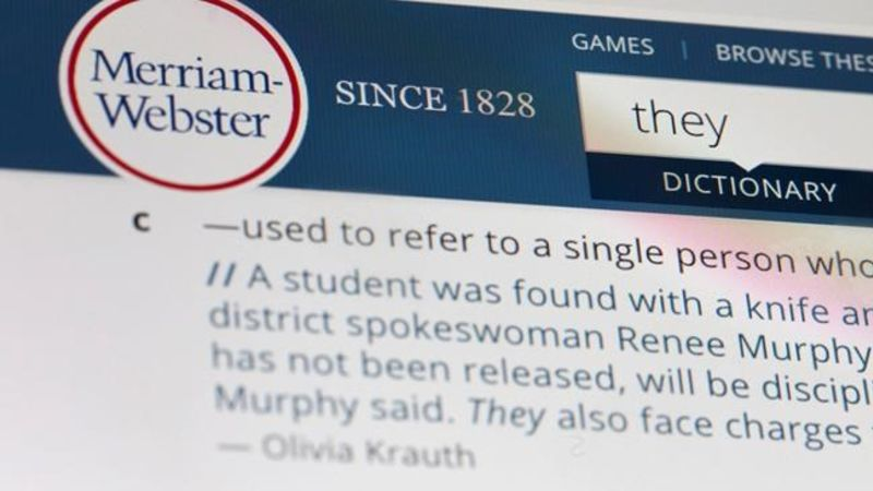 'They' is Merriam-Webster word of the year for 2019