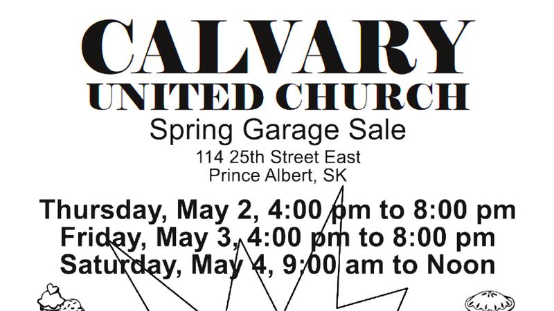 Calvary United Church Garage Sale | saskNOW | Saskatchewan | News