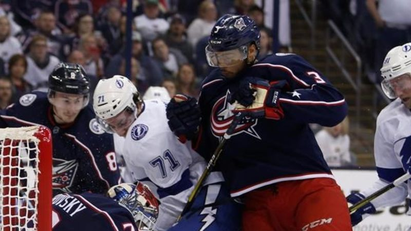 Lightning swept by Jackets in historic first round