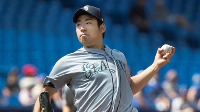official photos 9ccab 9af9b Yusei Kikuchi shuts out Toronto Blue Jays in 7-0 Seattle ...