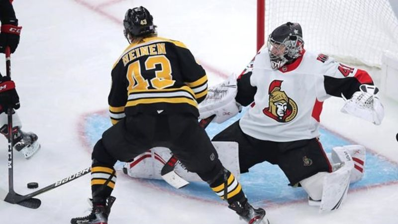 Sabourin has fractured nose after scary fall against Bruins
