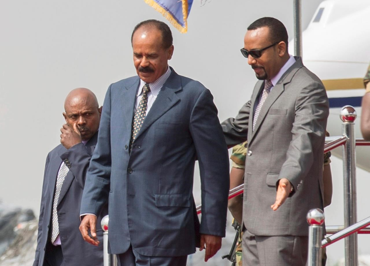Eritrea's leader visits Ethiopia as dramatic thaw continues