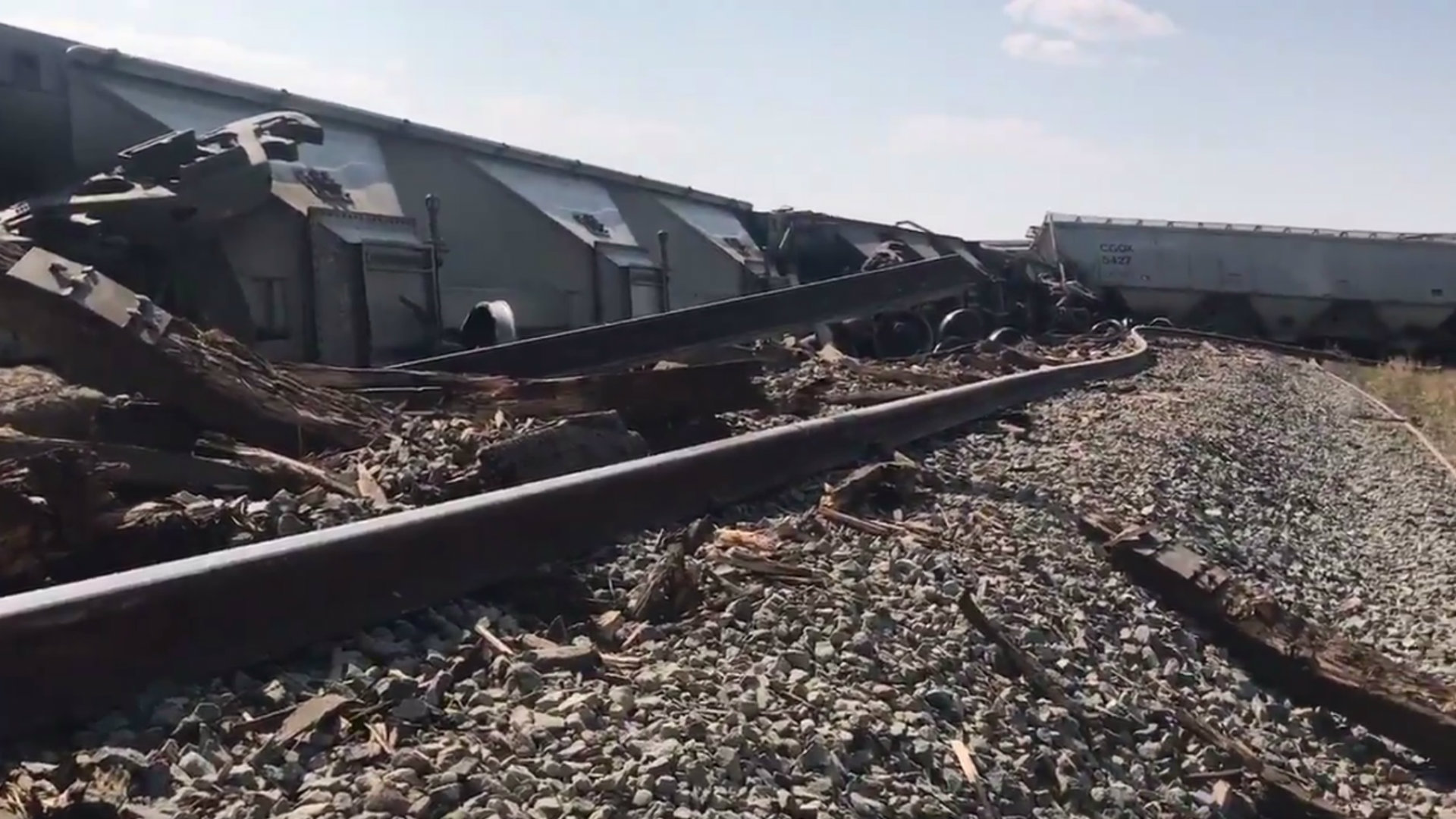Train derailed after missing curve south of Lethbridge