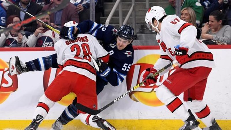 Aho Staal Score Twice As The Hurricanes Double Up The Winnipeg Jets 6 3 Lethbridge News Now