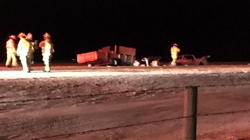 Multi vehicle collision on icy Highway-3   LethbridgeNewsNOW