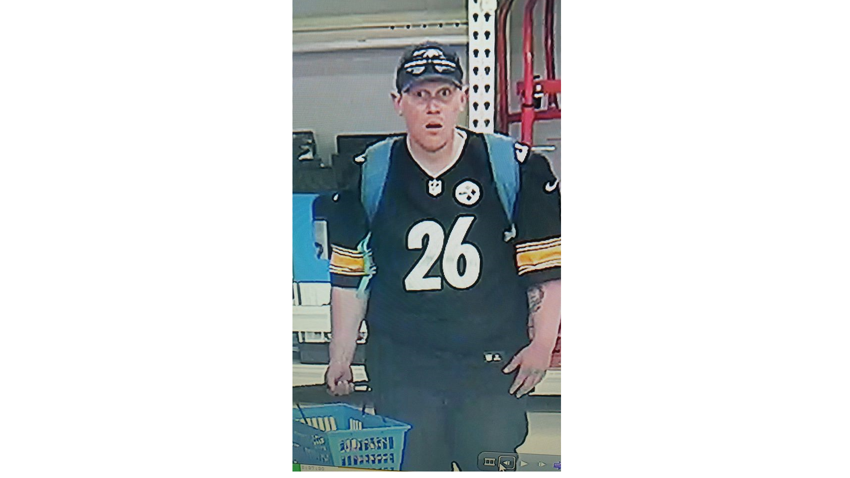 hot sale online 7e225 40f8f Man wearing Steelers jersey accused of ripping off Walmart ...