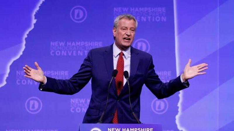 New York Obituaries 2020.New York Mayor Bill De Blasio Drops 2020 Presidential Bid