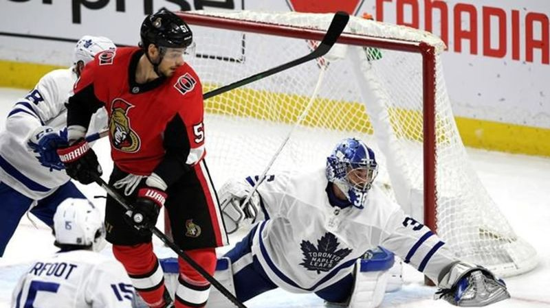 Matthews 2-point night helps Maple Leafs double up Senators
