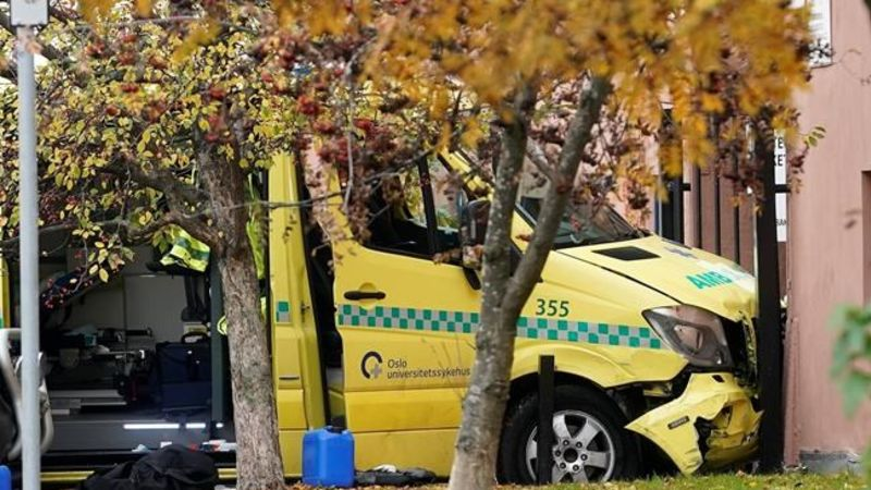 Man shot by Norwegian police after driving into crowd with stolen ambulance