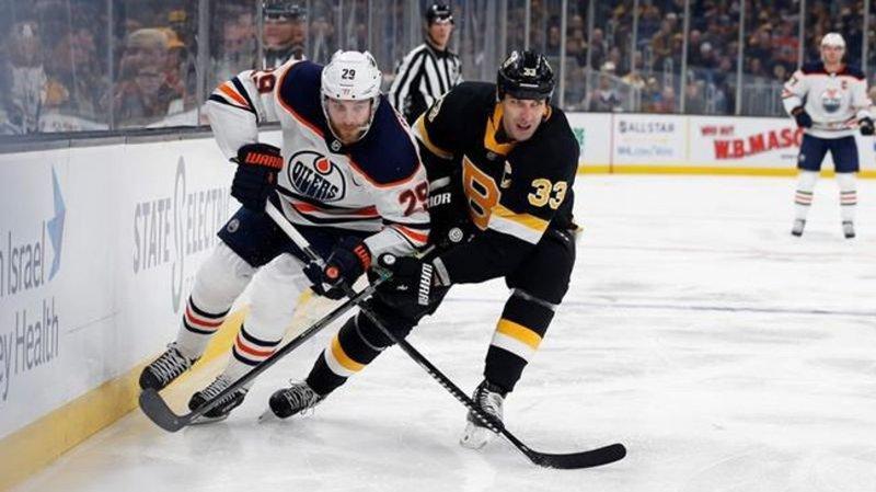 Bruins defeated by Oilers, ending point streak at nine